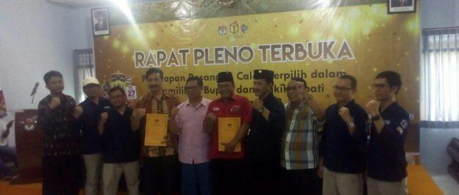 Rapat pleno terbuka KPU Tulungagung, Selasa 24/7 (dok. KM)