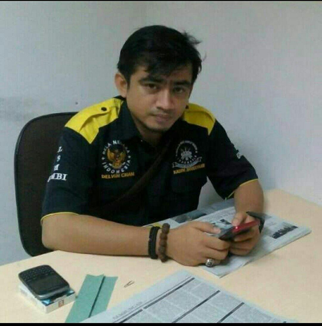 Ketua Bidang Investigasi LSM Gerakan Masyarakat Bawah Indonesia  (GMBI), Delvin Chaniago