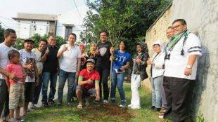 Giat Tanam Pohon Ke 182 GTP di Curug Mekar, Kota Bogor, Minggu 29/7 (dok.KM)