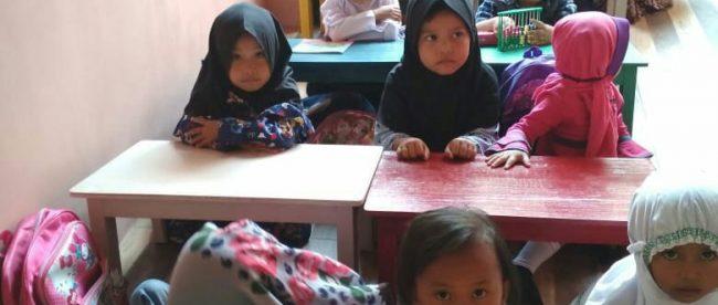 Pelajar PAUD di Desa Sukasari, Rumpin, Kabupaten Bogor (dok. KM)
