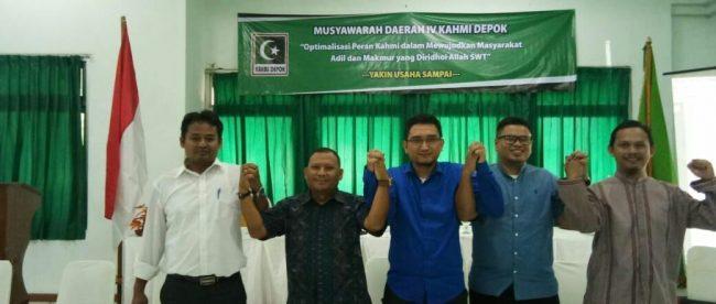 Koordinator Presidium Kahmi Zubair Halim (tengah) didampingi pengurus lainnya (dok. KM)