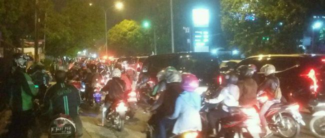 Suasana Rutin Kemacetan di Jalan Raya Kartini Kota Depok (dok. KM)