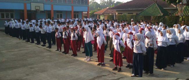 Siswa peserta MPLS di SMP YBD, Kecamatan Tajurhalang, Bogor (dok. KM)
