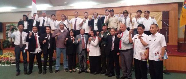 Jajaran pengurus DPC PJI Demokrasi Kabupaten Bogor yang dilantik, Rabu 18/7/2018 (dok. KM)