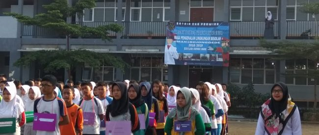 Peserta MPLS di SMAN 1 Bojonggede, Bogor (dok. KM)