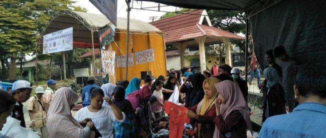 Bazar dan panggung rakyat di Pasar Ciampea untuk menggalang dana bantuan bagi korban gempa Lombok, Minggu 26/8/2018 (dok. KM)