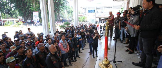 Walikota Bogor Bima Arya Sugiarto Saat Membacakan Deklarasi Bogor Kondusif (dok. KM)