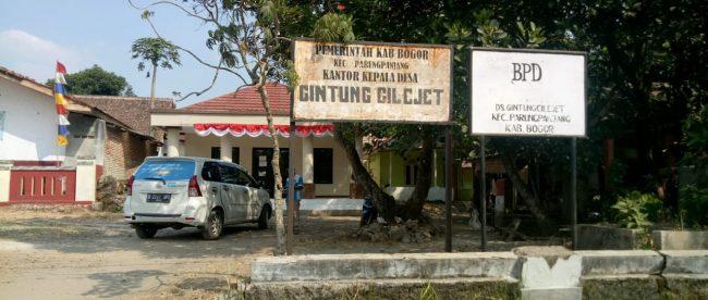 Kantor Desa Gintung Cilejet, Kecamatan Parung Panjang, Kabupaten bogor (dok. KM)