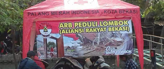 Posko Peduli Lombok dari Aliansi Rakyat Bekasi (ARB) (dok. KM)