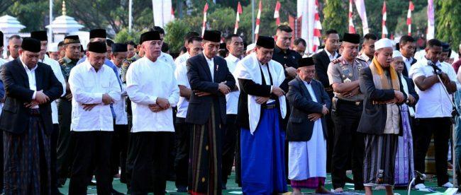 Salat Iduladha bersama Presiden Joko Widodo di Lapangan Tegar Beriman, Kabupaten Bogor, 22/8/2018 (dok. KM)