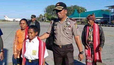 Johannes Gamal Marshall alias Joni, siswa SMP Silaean Kota Atambua NTT bertolak ke Jakarta (dok. KM)