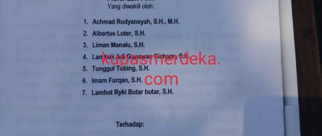 Surat Permohonan Praperadilan Plural Law Firm Sebagai Kuasa Hukum Ustad Yakub (dok. KM)
