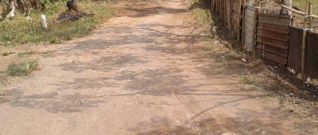 Kondisi jalan di Desa Ciodeng, Kecamatan Legok, Kabupaten Tangerang (dok. KM)