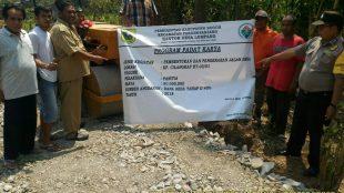 Pengerasan jalan di RT 03 RW 01, Kampung Cilangkap, Desa Lumpang, Parung Panjang, Kabupaten Bogor (dok. KM)