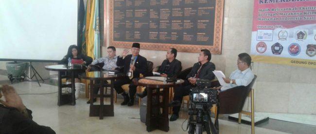 Diskusi tentang peran Dewan Pers di Gedung DPD-RI, Jakarta, Rabu 12/9 (dok. KM)