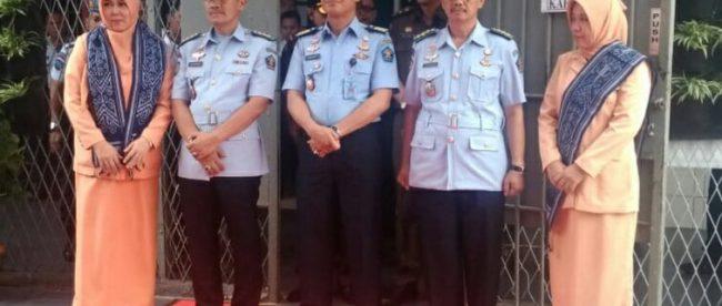 Serah terima jabatan dan pisah sambut Kalapas IIA Paledang Kota Bogor, Rabu 19/9/2018 (dok. KM)
