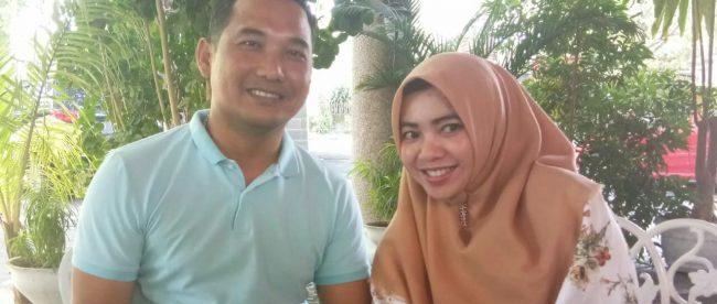 Kasat Lantas Polres Bangka Selatan AKP Adi Wirana dan istrinya (dok. KM)