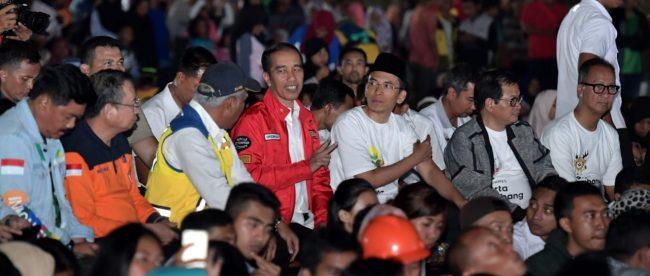 Presiden joko Widodo nobar penutupan Asian Games 2018 di Lombok, NTB 2/9/2018 (dok. Setpres)
