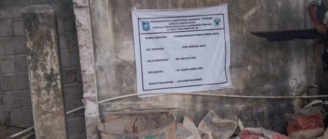 Lokasi proyek pembangunan rumah dinas Puskesmas Desa Benteng, Kabupaten Bangka Tengah (dok. KM)