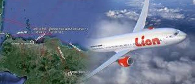 Ilustrasi pesawat Lion Air JT-610 yang jatuh di perairan Karawang, Jawa Barat, Senin 29/10/2018 (dok. KM)