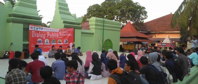 Suasana dialog publik dalam rangka hari Sumpah Pemuda ke-90 di Universitas Tirtayasa, Serang, Banten 29/10/2018 (dok. KM)