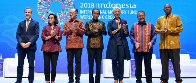 Presiden Joko Widodo di acara pertemuan tahunan IMF-Bank Dunia di Nusa Dua, Bali (dok. Setpres)