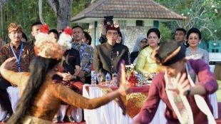 Presiden Joko Widodo di Festival Bidaya Bali di Nusa Dua, Jumat 12/10/2018 (dok. KM)
