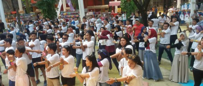 Peserta Color Run IPB di Jungleland Bogor, Sabtu 13/10/2018 (dok. KM)