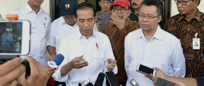 Presiden Joko Widodo di Lombok, NTB, Kamis 18/10/2018 (dok. Setpres)