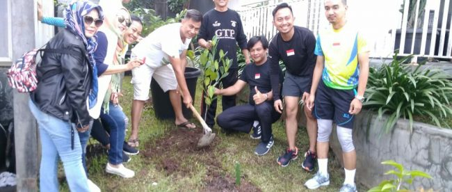 Giat Tanam Pohon GTP ke-192 di Jl Komplek IPB Perumahan Budi Asri, Kelurahan Loji, Kecamatan Bogor Barat, Minggu 21/10/2018 (dok. KM)