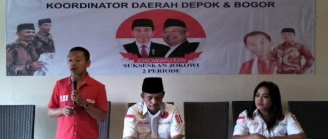 Pengukuhan Balad Jokowi Koordinator Daerah Depok dan Bogor di Cibinong, Minggu 21/10 (dok. KM)