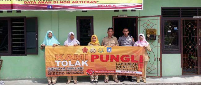 Satbinmas Polres Bangka Barat adakan penyuluhan Saber Pungli ke Desa Sinar Manik, Kecamatan Jebus, Bangka Barat (dok. KM)
