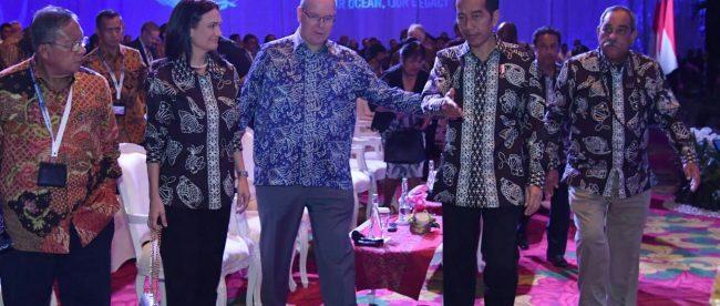 Presiden Jokowi pada konferensi kelautan internasional