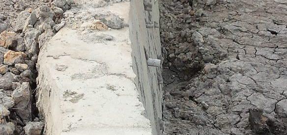 Lokasi proyek pembangunan dinding Kolong Jelana di Kelurahan Paritlalang, Kecamatan Rangkui, Pangkalpinang (dok. KM)