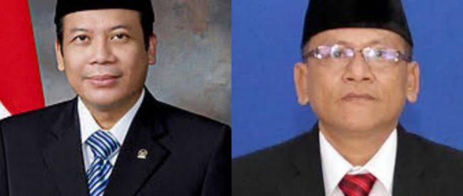 Tersangka kasus korupsi Kabupaten Kebumen, Taufik Kurniawan (Wakil Ketua DPR RI) dan Cipto Waluyo (Ketua DPRD Kebumen) yang ditetapkan KPK di Jakarta, 30/10/2018.