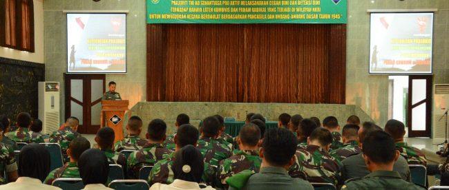Sosialisasi bahaya laten komunisme dan faham radikal di Makorem Suryakancana, Kota Bogor, 15/11/2018 (dok. KM)