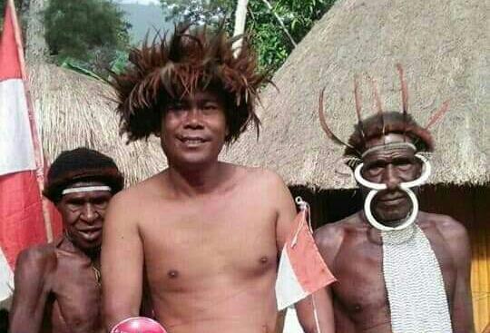Damin, warga Lampung yang bersepeda ontel keliling Indonesia hingga mencapai Papua (dok. KM)