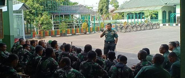 Dandim 0710/ Pkl Letkol Inf Muhammad Ridha: Pileg dan Pilpres, TNI harus Jaga Loyalitas dan Netralitas.(dok. KM)