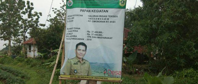 Lokasi proyek irigasi di Desa Sukawening, Dramaga, Bogor (dok. KM)