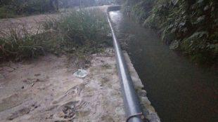 Pipa air bersih yang dipasang di Desa Barengkok, Kabupaten Bogor (dok. KM)