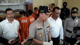 Kapolresta Bogor Kota Kombes Pol. Hendri Fiuser saat konferensi pers Senin 14/10/2019 (dok. KM)