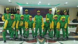 Merry Simargolang memimpin tim Alwasliyah Gading Tanjungbalai di ajang PONPENAS VIII di Bandung. (dok. KM)