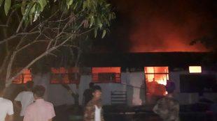 Kebakaran di SMPN 6 Tanjungbalai, Senin 27/1/2020 dinihari (dok. KM)