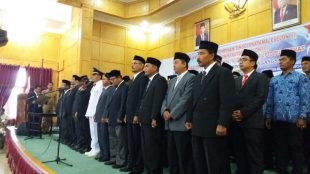 Pelantikan PNS dan kepala dinas baru di jajaran Pemko Langsa, Selasa 10/3/2020 (dok. KM)