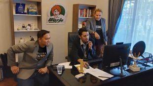 Ketua Gerakan Nusantara Berdaya (GNB) Evan Breco menggelar webinar yang diikuti oleh 100 pelaku usaha UMKM di Provinsi Babel (dok. KM)