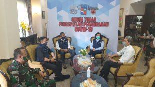 Kunjungan Wakil Ketua Gugus Tugas Covid 19 Jawa Barat ke Posko Gugus Tugas Kota Bogor, Kamis 11/6/2020 (Istimewa)
