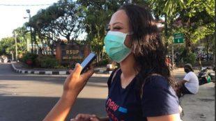 Visit Ida Rahayu saat diwawancarai tim media di Bali, 11/6/2020 (dok. KM)