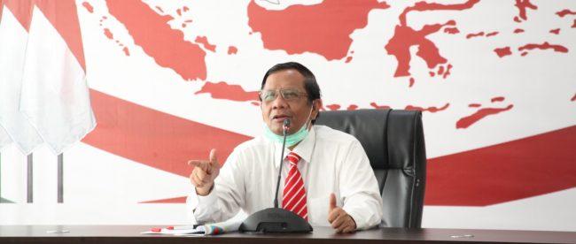 Menteri Koordinator Bidang Politik, Hukum, dan Keamanan (Menkopolhukam) Mahfud MD (stock)