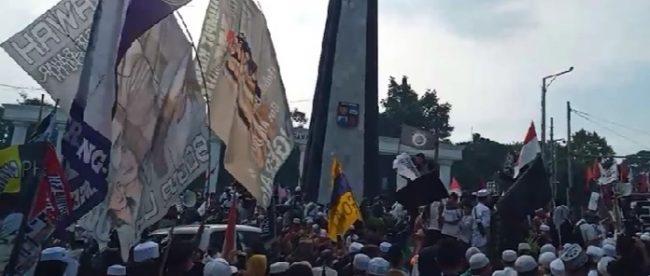 Aksi unjuk rasa menolak RUU HIP di Tugu Kujang, Kota bogor, Jumat 3/7/2020 (dok. KM)