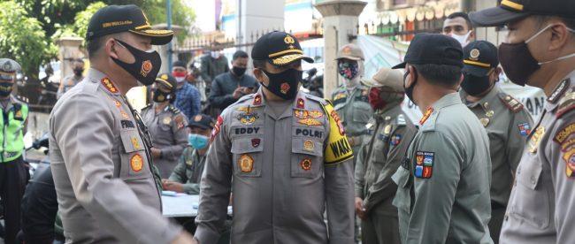 Wakapolda Jabar bersama Kapolresta Bogor Kota saat sidak di Kota Bogor, 30/9/2020 (dok. KM)